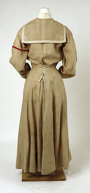 Day Dress 1900 Linen Nautical Theme