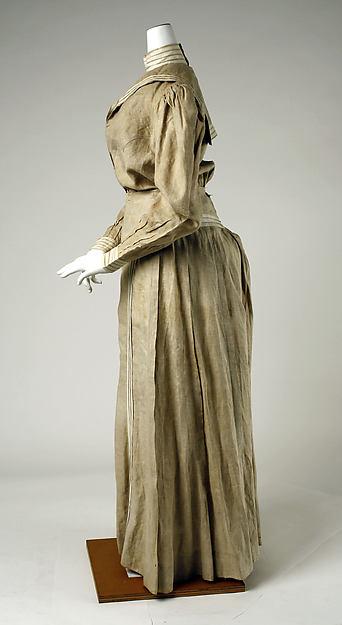 Day Dress 1895 Linen Nautical Theme
