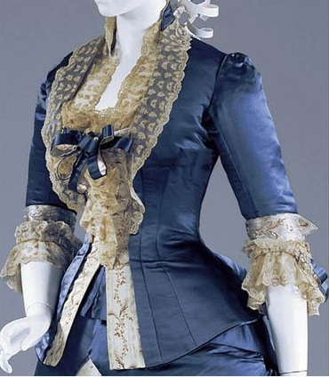 Reception gown, Worth, c. 1877-78.