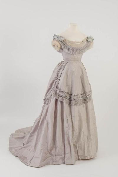 Evening Dress c. 1871 Fashion Museum Bath