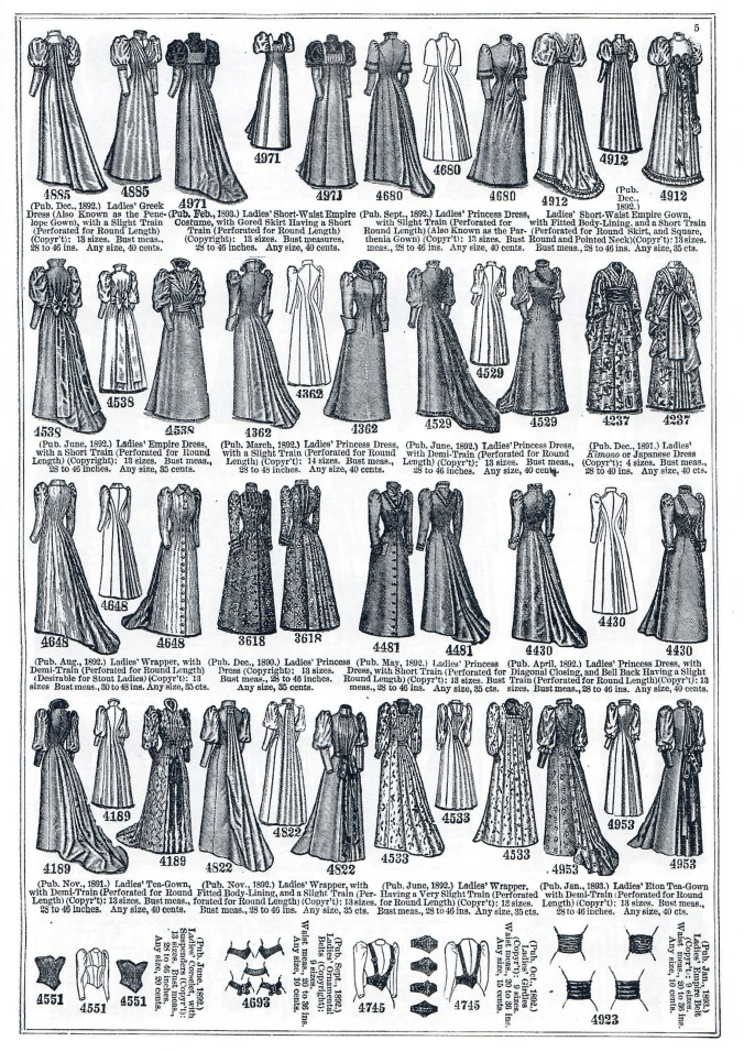 Butterick_Spring 1893 Pattern Catalog Tea Gown