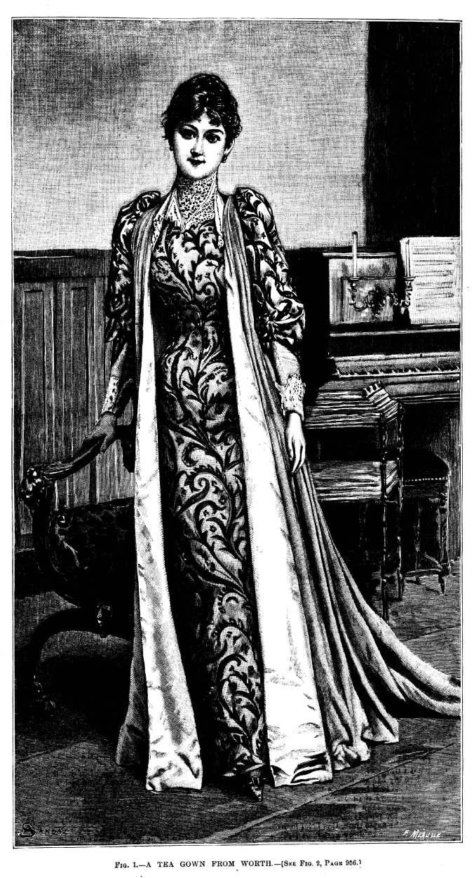 Worth Tea Gown Harper's Bazar Dec 12 1891