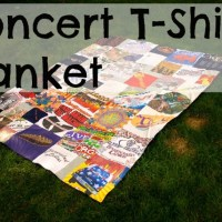 Concert T-Shirts into a Blanket!