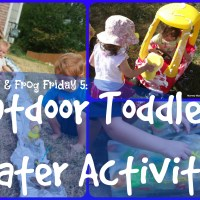 Lily & Frog Friday 5: 5 Outdoor Toddler Water Activities