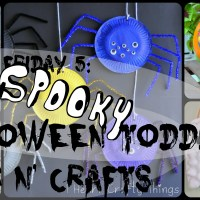 Lily & Frog Friday 5: 5 Easy Spooky Halloween Toddler Arts N' Crafts