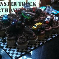 Monster Truck Birthday Cupcakes