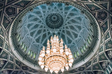 Chandelier Sultan Qaboos Grand Mosuqe Muscat