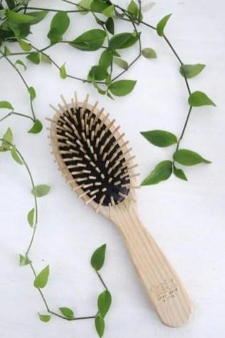 brosse cheveux naturelle bois