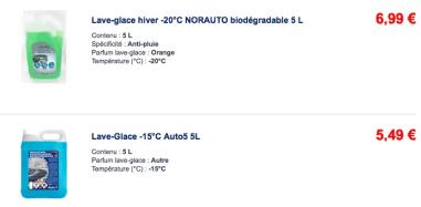prix lave glace