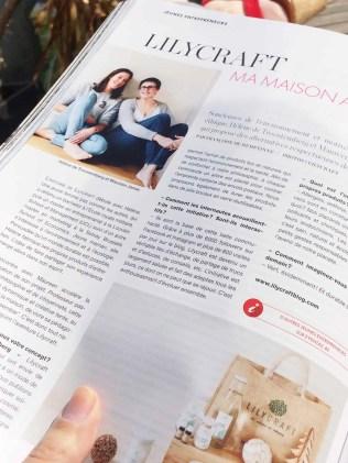 magazine éventail article sur lilycraft mai 2018