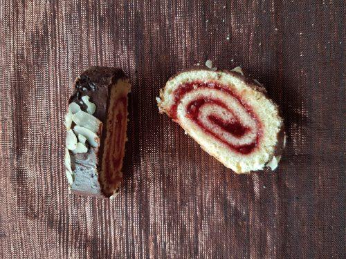 Recette roulé à la fraise glaçage chocolat lilygourmandises blog culinaire