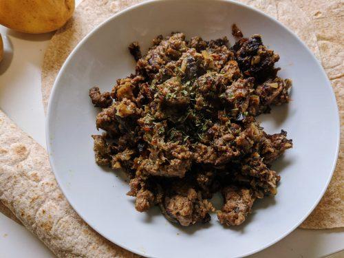 Garniture de viande hachée, préparation tacos, recettes casher, recette cacher, recette wrap, recette tacos, recette tortilla, tortilla a la viande, recette casher ninja foodi, recette casher au cookeo, salade de chabbat, recette pourim, recette tou bichvat, recette souccot, recette roch hacha, recette pessah, blog culinaire, lilygourmandises, recettes faciles viande