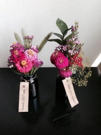 Zinnia, Amaranthus, Israeli Ruskus, Waxflower, Dill, red Yarrow, Statice
