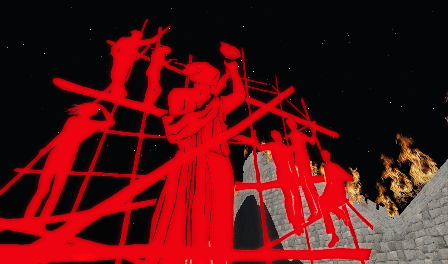 Statue in Land of Illusion in Second Life