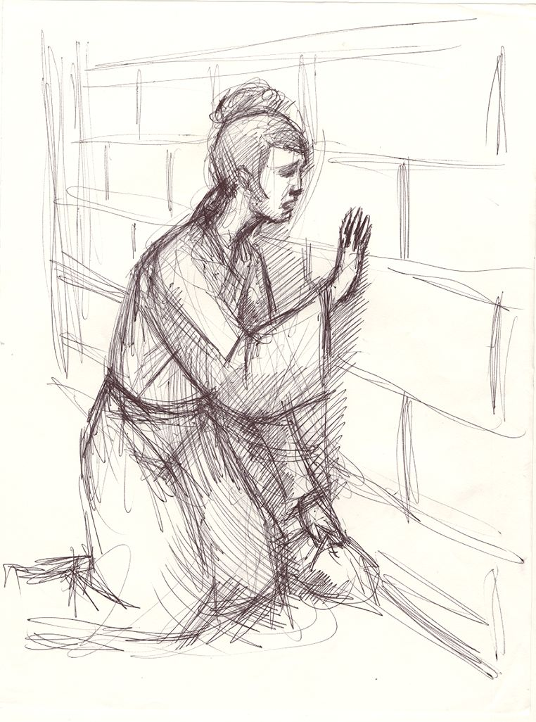 Meng Jian Nu - sketch by Honglei