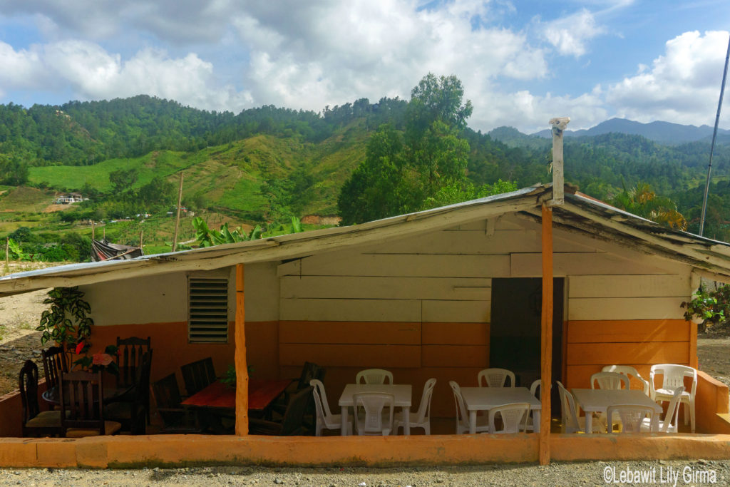 A roadside local restaurant in Manabao, Dominican Republic.