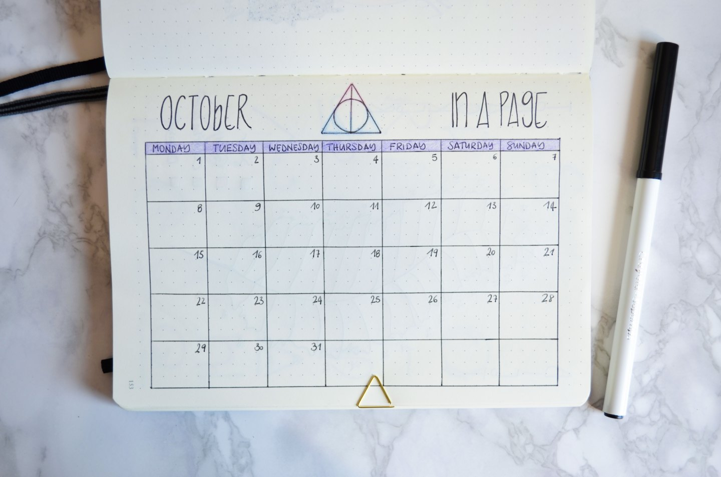 Bullet journal ispirato a Harry Potter Bullet Journal Ottobre