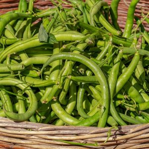 beans, vegetables, basket