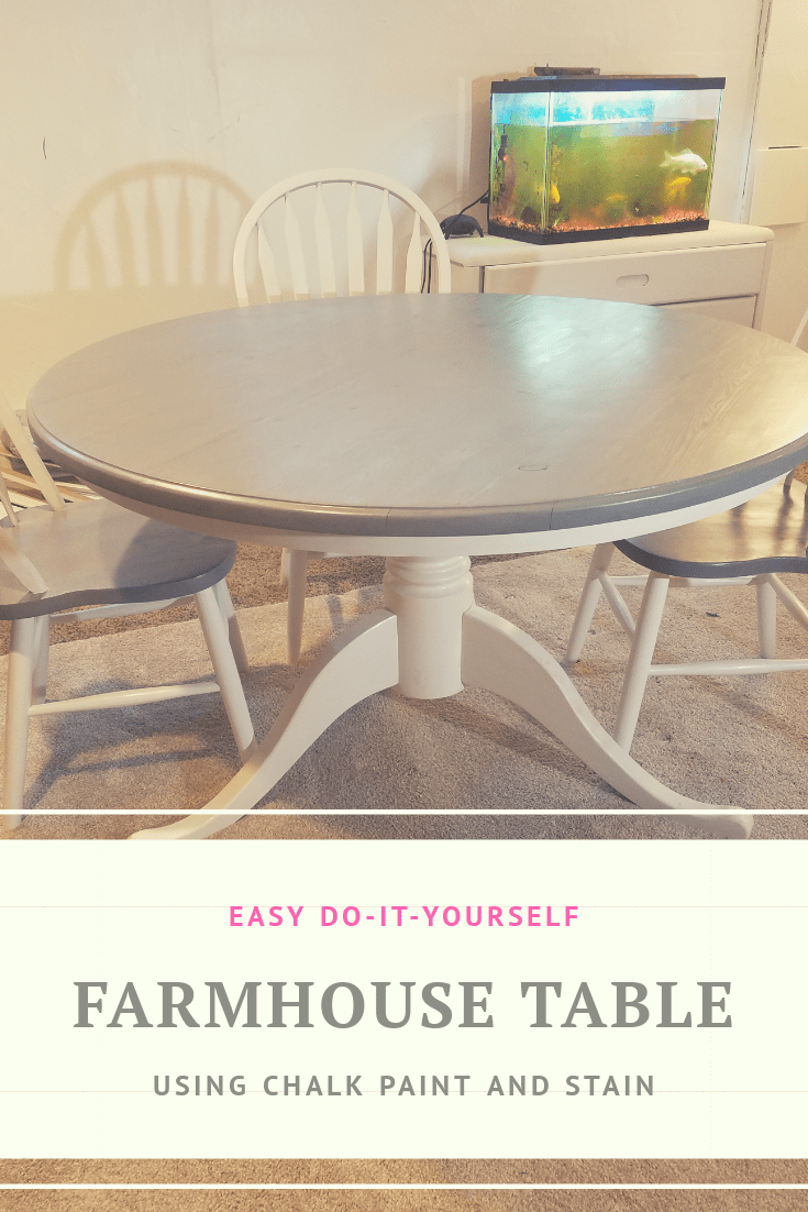 How to Stain a Kitchen Table and Chairs – Lily Sparkle Creations