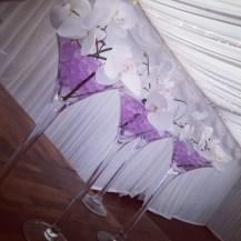 Centrepieces martini vases wedding ideas Glasgow