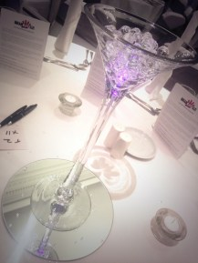 Martini vase centrepiece - Lily Special Events - Wedding Glasgow
