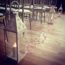 Vintage Lantern Centrepieces by Lily Special Events - Glasgow, Scotland - South Lanarkshire, East Kilbride - Wedding venue decor