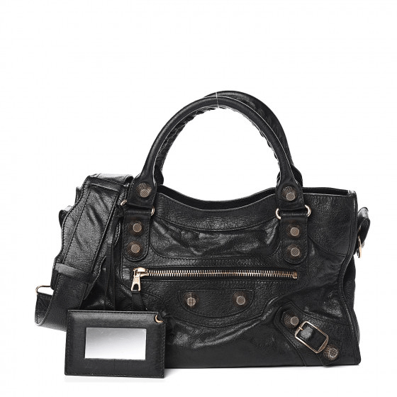 Balenciaga Agneau Giant 21 Rose Gold City Black
