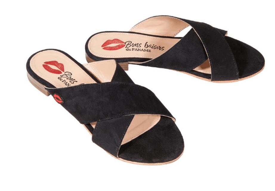 sandales noir GRAZIA