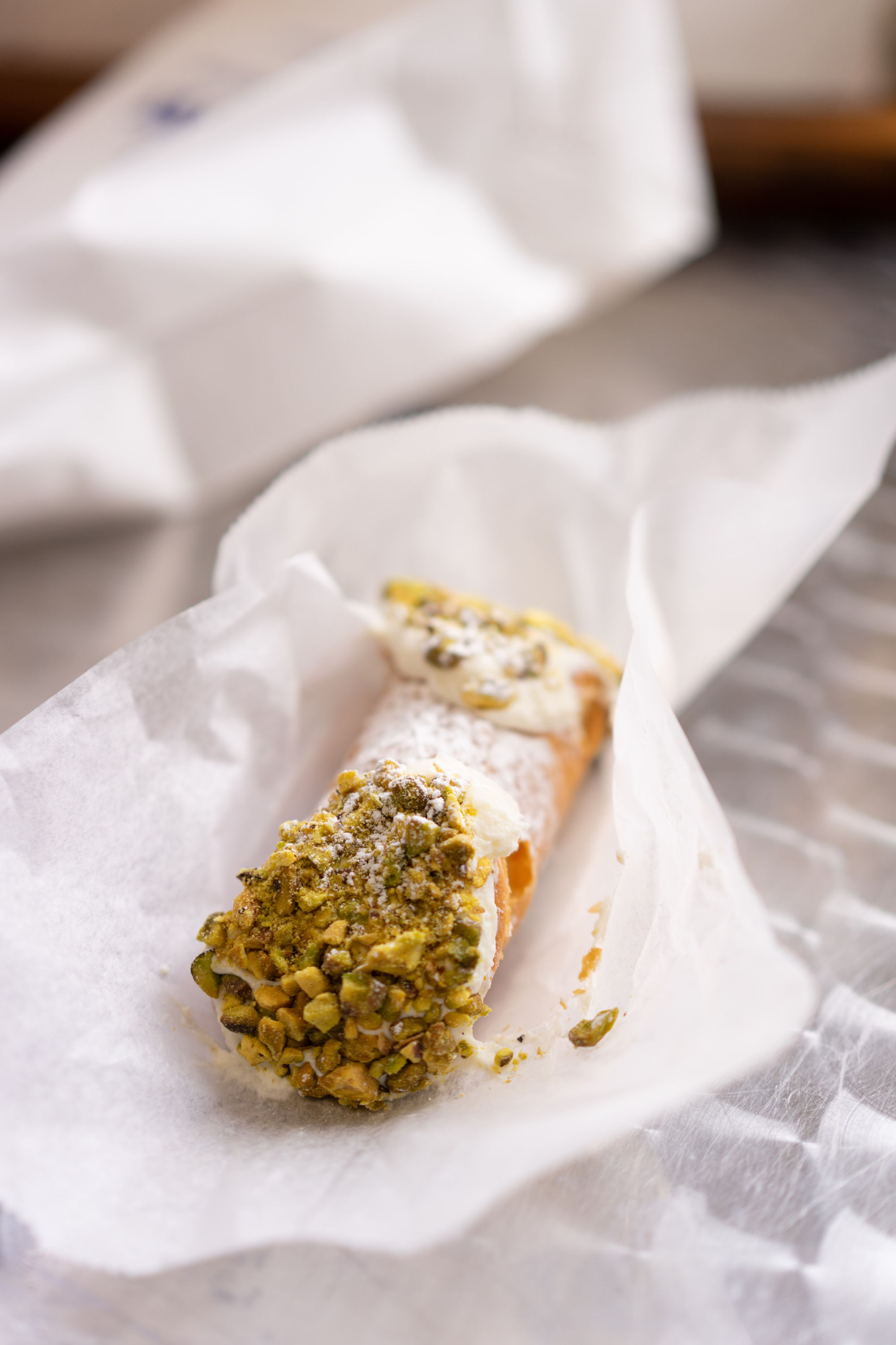 Pistachio Cannoli at Mike's Pastry