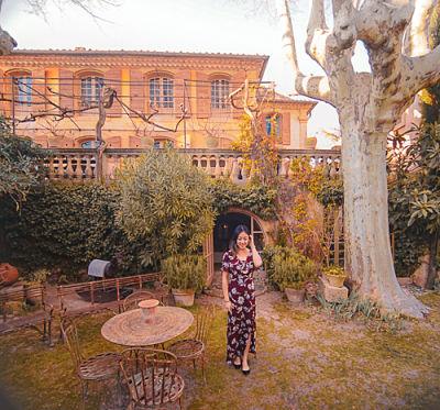 The beautiful Villa Saint Louis in Lourmarin, France. March 2019.