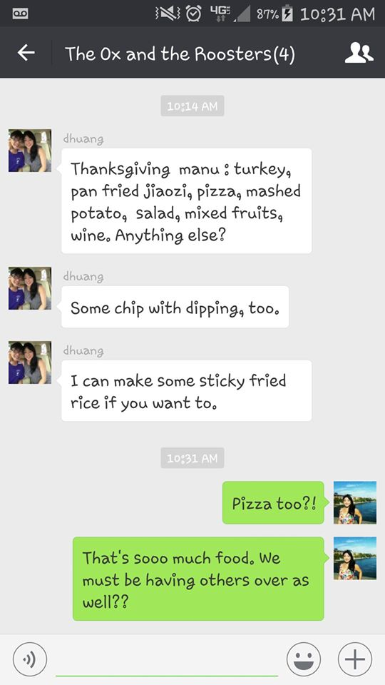 Thanksgiving text during Chinese Thanksgiving