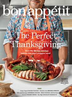 A Thanksgiving magazine cover from Bon Appetit