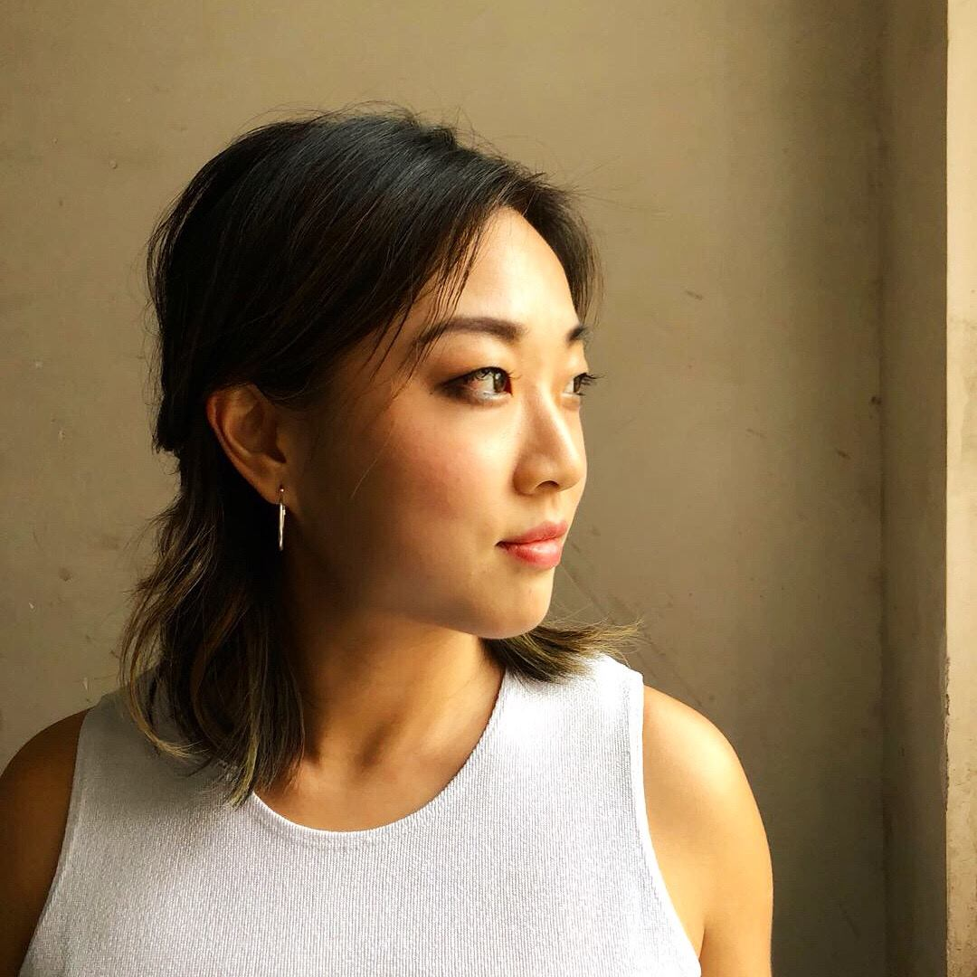 Portrait of an Asian girl with shoulder length hair