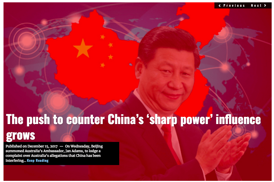 Image Lima Charlie News Headline China Sharp Power DEC15