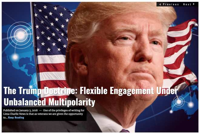 Image Lima Charlie News Headline Trump Doctrine D.Firester JAN3 2018