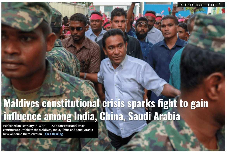 Image Lima Charlie News Headline Maldives Crisis