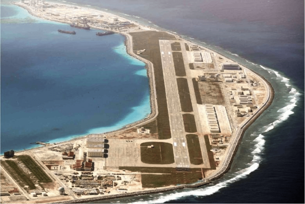 Image (Air strip recently constructed on Subi Reef. Photograph: Inquirer.net/Philippine Daily Inquirer)