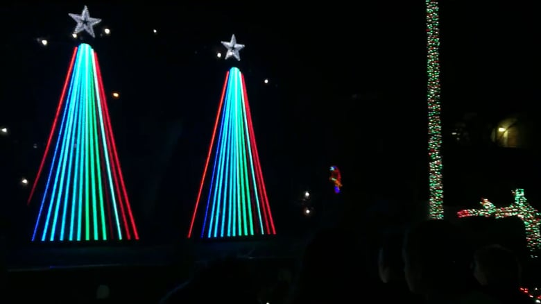 LED Christmas tree light show