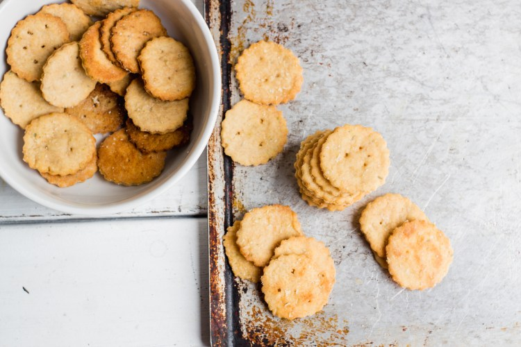 Whole Wheat Parmesan Herb Crackers