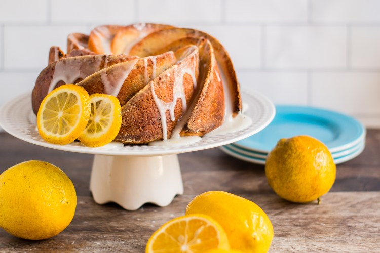 Lemon Cranberry Pound Cake