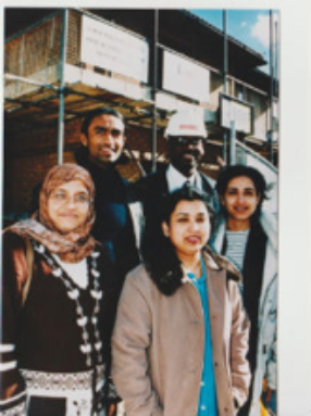 The first Limehouse Project team overseeing the building of new houses for local homeless people, 1992.