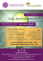 Fule Buster (Energy Saving) Workshop flyer