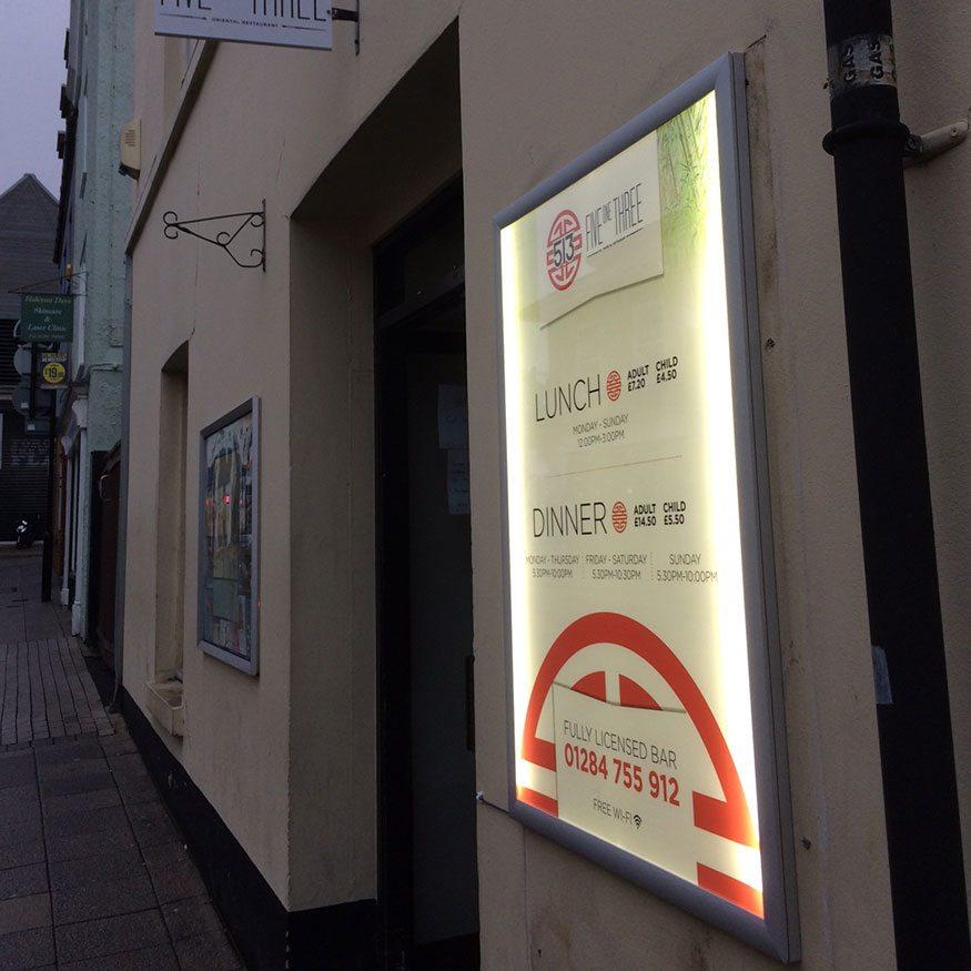 Lightbox Signs in Bury St Edmunds, Suffolk