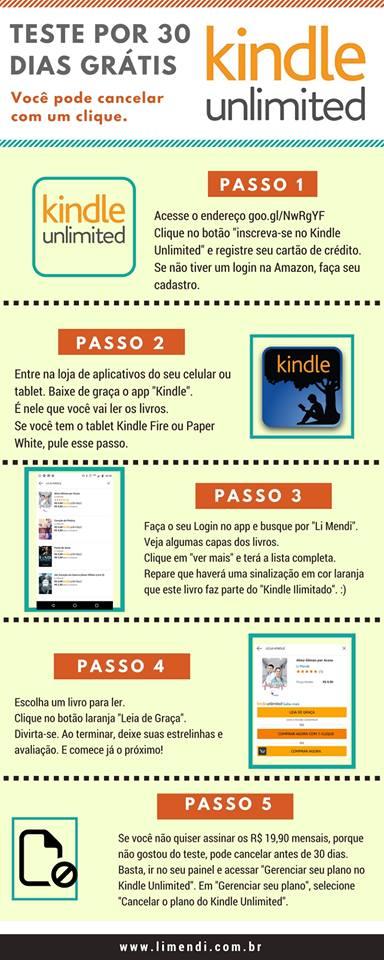 Kindle ilimitado unlimited ku por 30 dias e-books e livros grátis