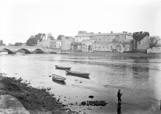 Boy fishing, Curragower, Limerick (c. 1900) - Eason Collection