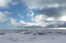 Blue sky vs. Grey clouds