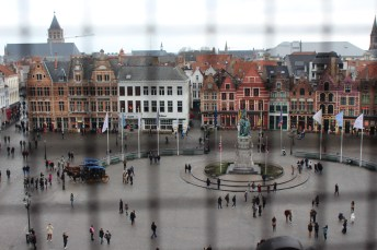 View of the Market Square 366 steps up the bell tower