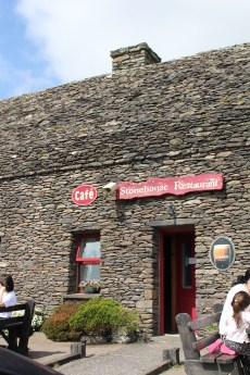The Stonehouse Cafe -- this is where we were when I got sunburnt...in Ireland
