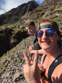 Eoghan and Tailor as we stopped for a brief water break next to some ruins of a hut.