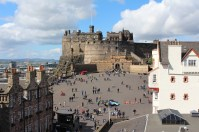 Edinburgh Castle from the top of the Camera Obscura Museum